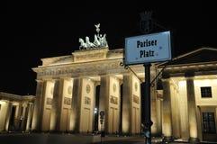 Tor di Brandenburger a Berlino Fotografie Stock Libere da Diritti
