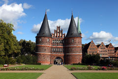 Tor di Holsten in Germania Lübeck Immagine Stock Libera da Diritti
