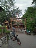Tor durch pfeifen Bambus aus stockbild