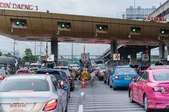 Tor für Schnellstraßengebührenzahlung in Bangkok durch EXAT Lizenzfreies Stockbild