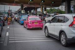 Tor für Schnellstraßengebührenzahlung in Bangkok durch EXAT Stockfotografie