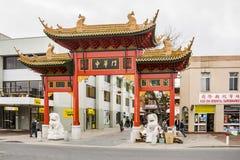 Tor, Käufer und Speicher in China-Stadt in Adelaide Lizenzfreie Stockbilder