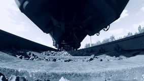 Tor szynowy koleje trenują przewiezionego systemu szybką prędkość zbiory wideo