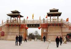 Tor-Turm von altem China lizenzfreies stockbild