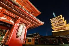 Tor und Pagode von Senso-jischrein in Tokyo Stockbild