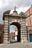 Tor von Gerechtigkeit, Dublin Castle, Irland lizenzfreie stockfotos