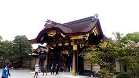 Tor von Nijo-Schloss, Japan; äºŒæ¢  城 lizenzfreies stockbild