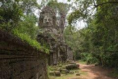 Tor von Tempel Ta Prohm, Angkor Wat, Kambodscha stockfotografie