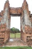 Tor von Wat Maha That, Ayutthaya, Thailand Lizenzfreie Stockfotografie