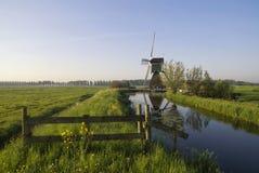 Tor vor einer Windmühle Lizenzfreies Stockbild