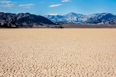 Tor wyścigów konnych w Śmiertelnej dolinie, Kalifornia obrazy stock