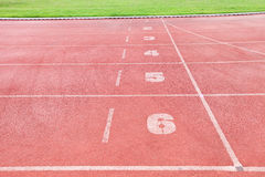 Tor wyścigów konnych w sporta arenie z trawą Obraz Stock