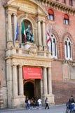 Tor zu ` Accursio Palazzo d im Bologna Stockbild
