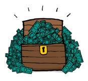 Torace/tesoro dei soldi Immagine Stock