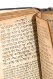 Torah. Ancient torah over white background stock photos