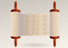 Torah. With abstract text. ancient scroll paper Stock Images