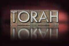 Torah Letterpress Stock Photo