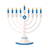 Torah lub pentateucha wektoru ilustracja Wakacje Hanukkah ele