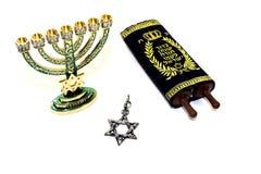 Torah with menorah Royalty Free Stock Images
