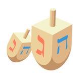 Torah or Pentateuch vector illustration. Holiday of Hanukkah element. Jewish symbol for celebration of Chanukah or Festival of Li. Dreidel vector illustration stock illustration