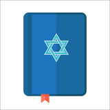 Torah or Pentateuch vector illustration. Holiday of Hanukkah ele. Ment. Jewish symbol for celebration of Chanukah or Festival of Lights. Feast of Dedication icon Stock Photography