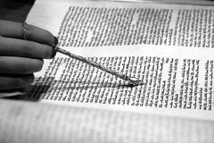 Torah Reading Black & White Stock Image