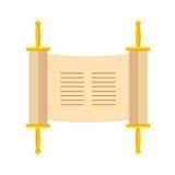 Torah-Rolle oder Pentateuch-Vektorillustration Feiertag von Hanuk vektor abbildung