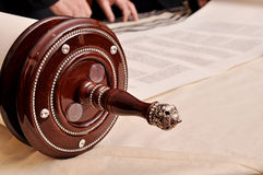 Torah rulle Arkivfoto
