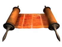 Torah Scroll. An old Torah scroll with Hebrew writing Stock Photography