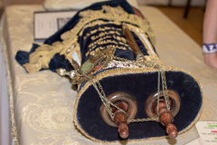 Torah scroll book close up Royalty Free Stock Image