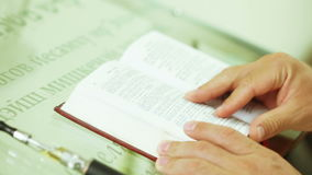 Torah Scroll in prayer stock video footage