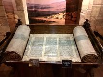 Torah Scroll Referencing the Building of the Tabernacle royalty free stock image
