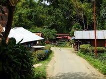 Toraja村庄,塞利比斯,苏拉威西岛,印度尼西亚 图库摄影