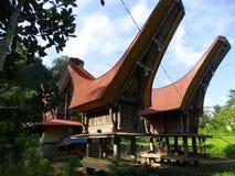 Toraja by, Celebes, Sulawesi, Indonesien Arkivfoto