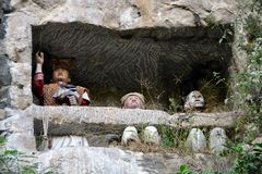 Toraja van beeltenistana Royalty-vrije Stock Foto's