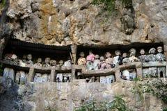 Torajagroep van beeltenistana Royalty-vrije Stock Foto's