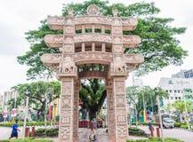 The Torana Gate in Brickfields Little India Kuala Lumpur. It is a gateway  to India-Malaysia Friendship. Royalty Free Stock Photo