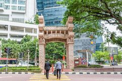 The Torana Gate in Brickfields Little India Kuala Lumpur. It is a gateway  to India-Malaysia Friendship. Stock Images