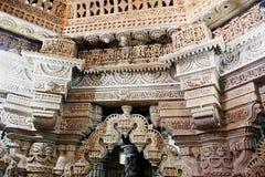 Toranas and Pillar Head Carvings Stock Photo