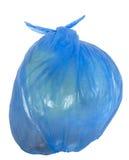 torba śmieci błękitny rozporządzalny Obrazy Royalty Free