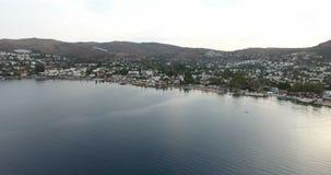 Torba Bay Bodrum Turkey Aerial. 4096x2160 stock video footage