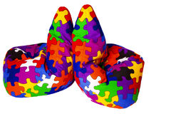 torba bobowi kolorowi dwa Zdjęcia Stock