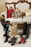 torba butów kobiety buty fotografia stock
