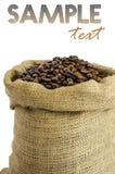 Torba kawowe fasole zdjęcie royalty free