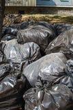 torba klingeryt czarny śmieciarski Fotografia Stock