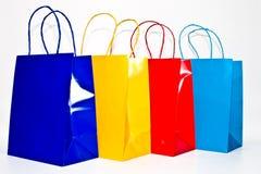 torba kolorowemu bielowi przeciwko Zdjęcie Royalty Free