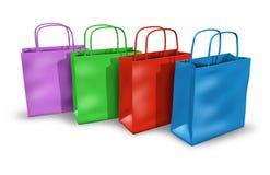 torba kolory grupują wielo- zakupy royalty ilustracja