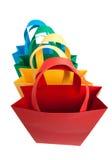 torba kolory różni cztery target444_1_ Obrazy Stock