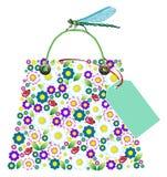 torba kwiaty na zakupy Obrazy Stock
