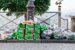 Torba na śmiecie przy Montmartre Zdjęcia Stock